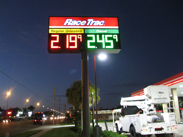 In Tampa, International Sign is ready to help you with your custom sign maker needs or requirements. International Sign specializes in the design, manufacture, installation of Gas Station Digital Display Pole Sign in all of Hillsborough county, International Sign is ready to serve your custom signs for business needs. Here to serve you International Sign does business in Tampa in Hillsborough county FL. Area codes we service include the  area code and the 